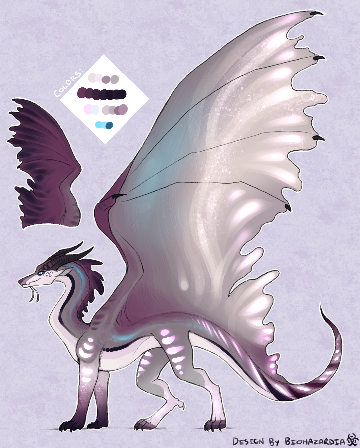 SilkWing/SeaWing design made for Allyval as a Christmas
