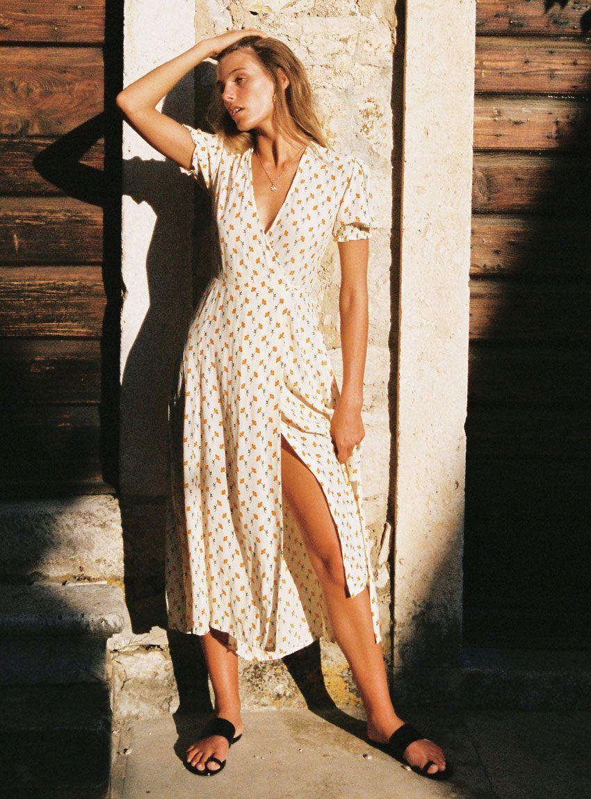 87341896ade9f Buy Hana Wrap Dress - Faithfull The Brand in 2019 | JUST IN | Wrap ...