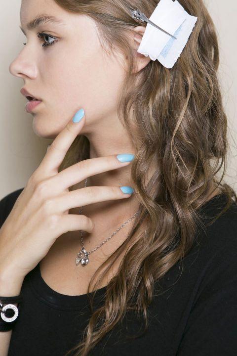 13 nail ideas to try this summer season: Matte powder blue