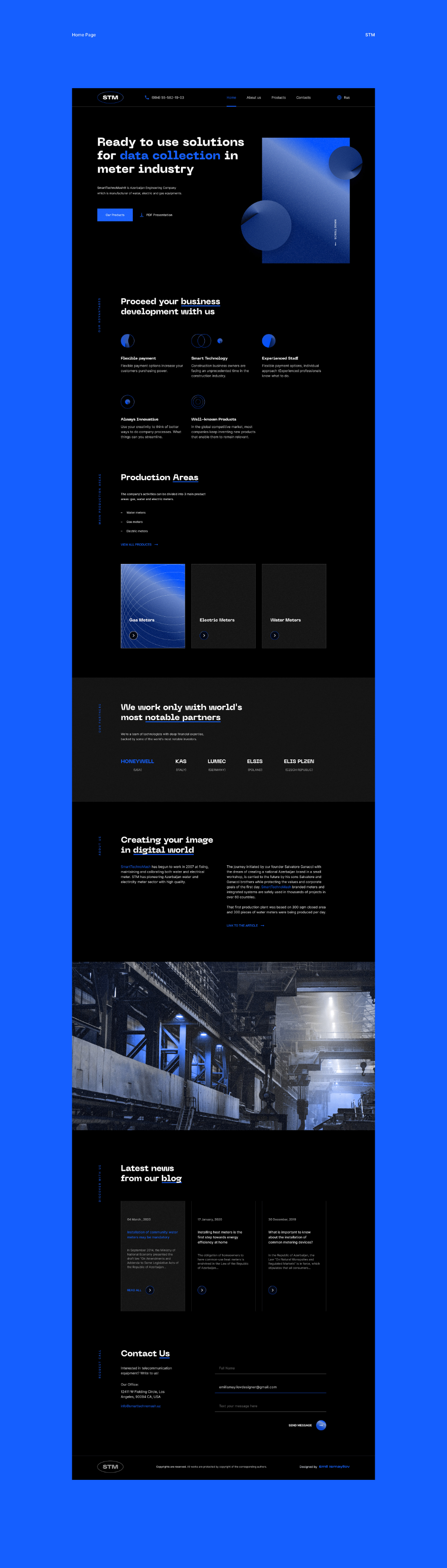Stm Corporate Website On Behance V 2020 G Dizajn Vdohnovenie Veb Dizajn Dizajn Sajta