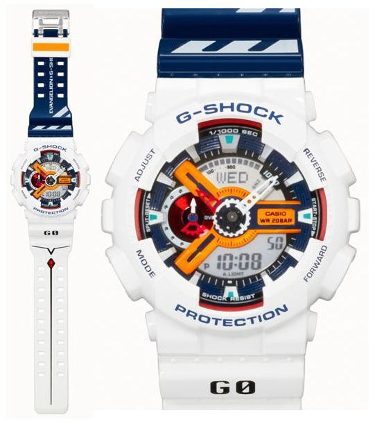 f115fa664b3 Neon Genesis Evangelion x Casio G-Shock – Limited Edition GA-110EV-6AJR GA-110PS-7AJR  Watch