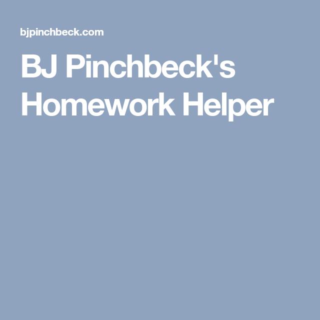 Bj pinchbeck's homework helper