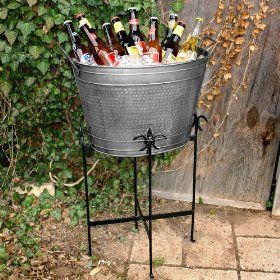 Hammered Tin Beverage Tub Great For That Backyard Gathering