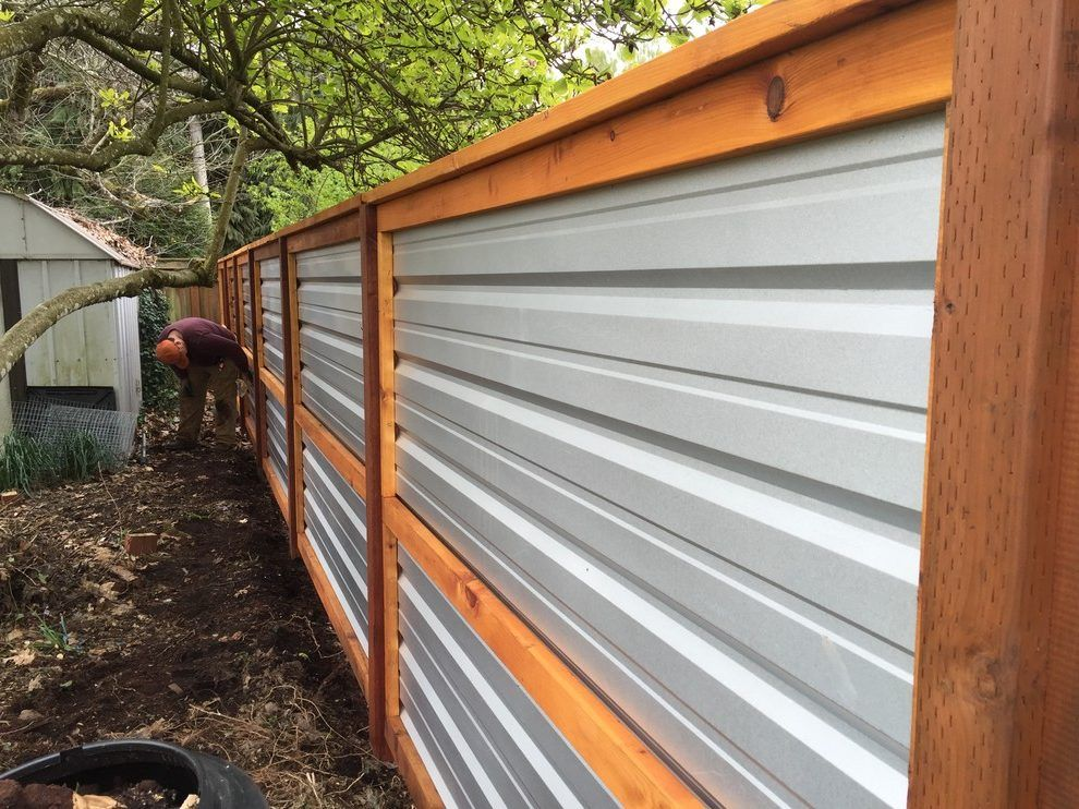 Image Result For Corrugated Fence Georgia Backyard Fences Corrugated Metal Fence Metal Fence