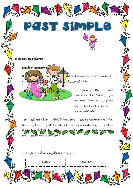 Past Simple Regular And Irregular Verbs Teaching 2nd