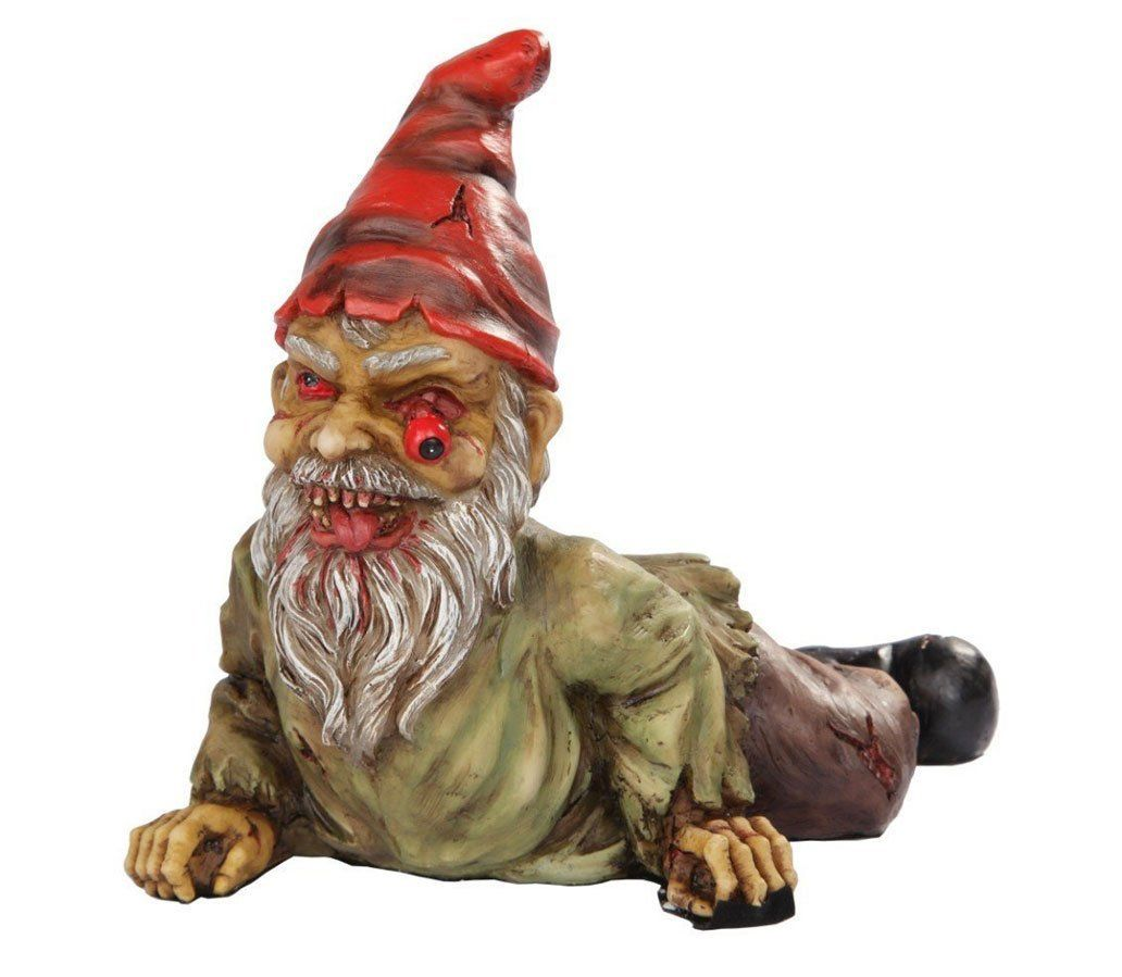 Outdoor decor statues - Amazon Com 7 Inch Resin Scary Crawling Zombie Garden Gnome D Cor Figurine Outdoor