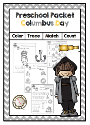 Preschool Packet Columbus Day from Preschool Printables on ...