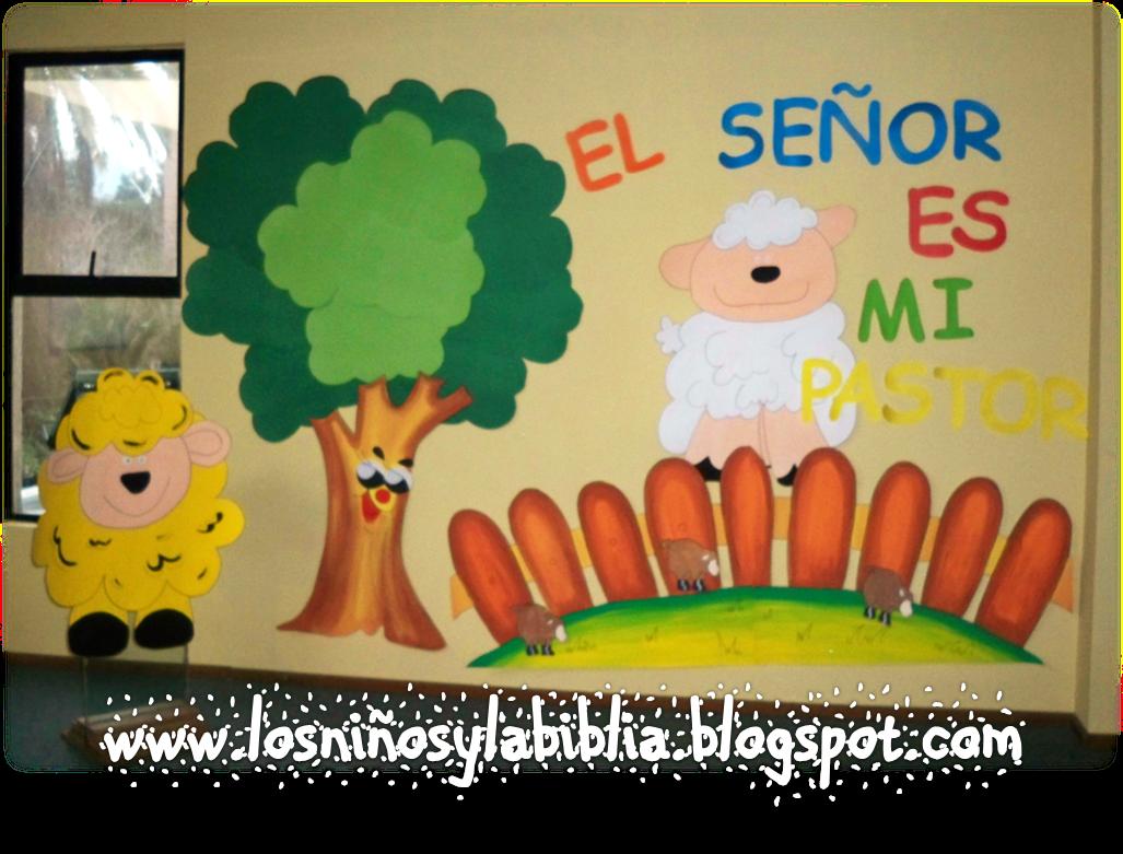 Los Ninos Y La Biblia Mural Salmo 23 Sabbath School Sunday