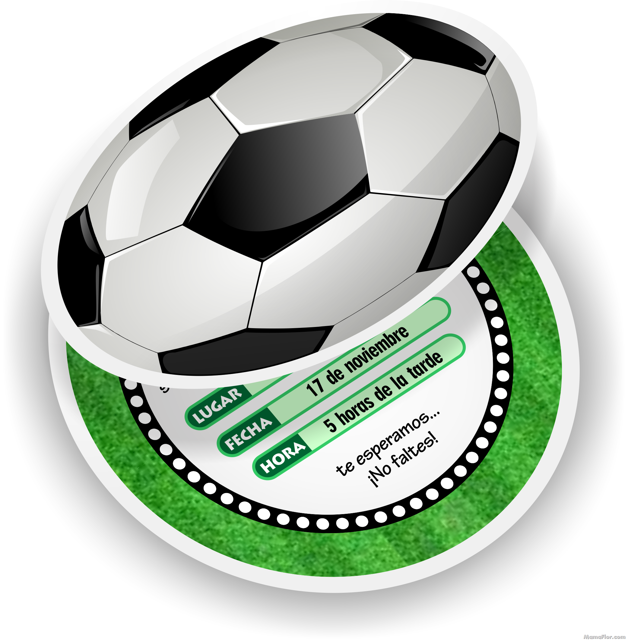 Tarjeta De Cumpleaños De Fútbol Invitaciones En Forma De Pelota Invitaciones De Fútbol Invitaciones De Cumpleaños Futbol Tarjetas De Cumpleaños Futbol