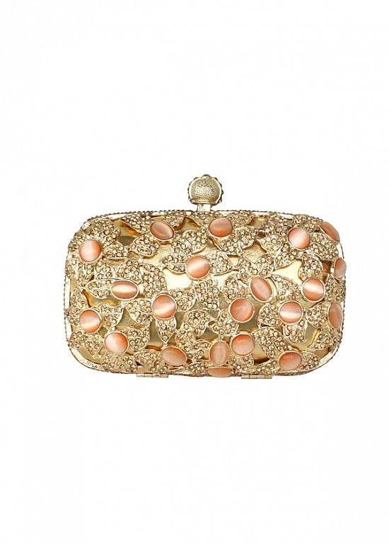 Buy discount Luxury Shiny Arylic Gems & Rhinestones & Stainless Steel Crust Gold Clutch Bags,Evening Handbags / Clutches at Dressilyme.com