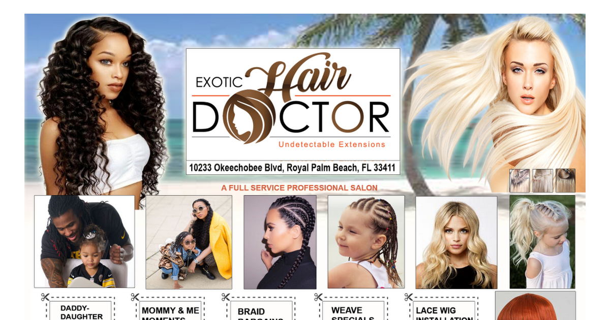 exotic hair creations COMPLETE psd - Google Drive | Exotic Hair