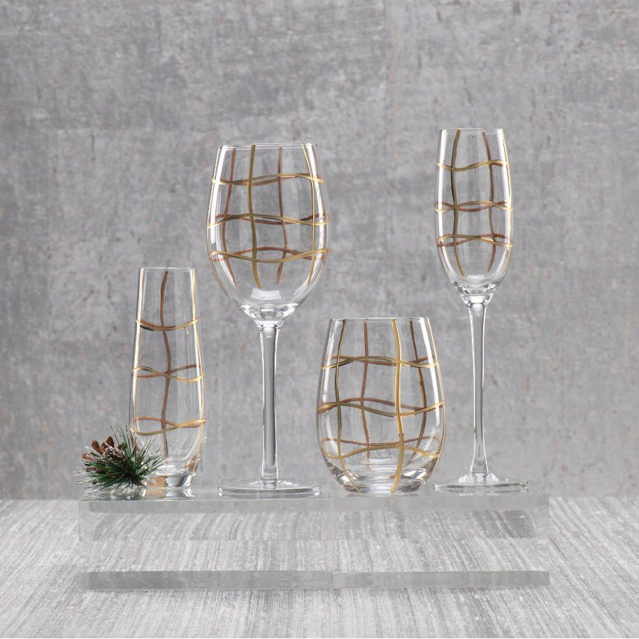 Groove Glasses & Drinkware - Set of 4 -  - CARLYLE AVENUE