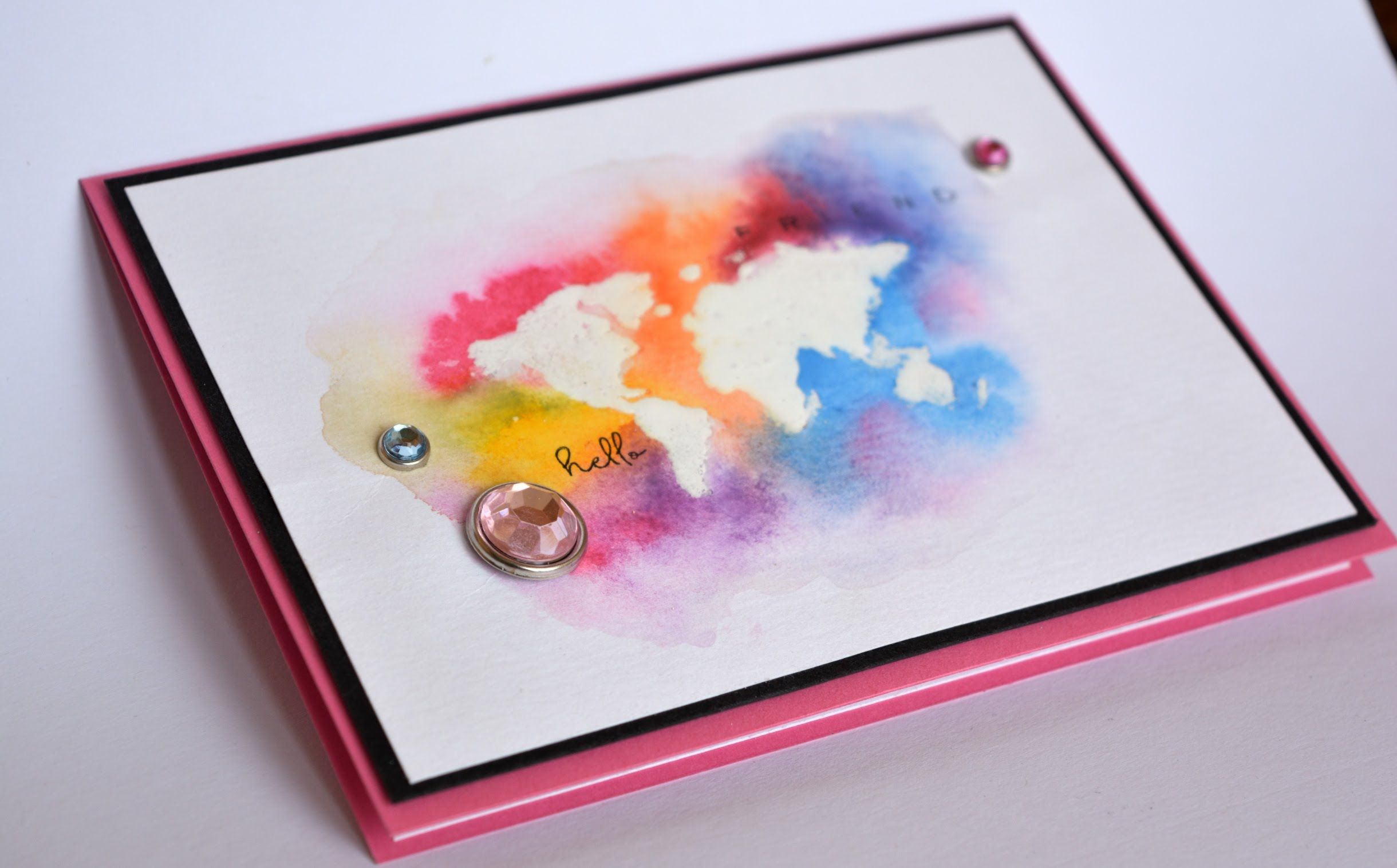 Идеи для открыток с красками