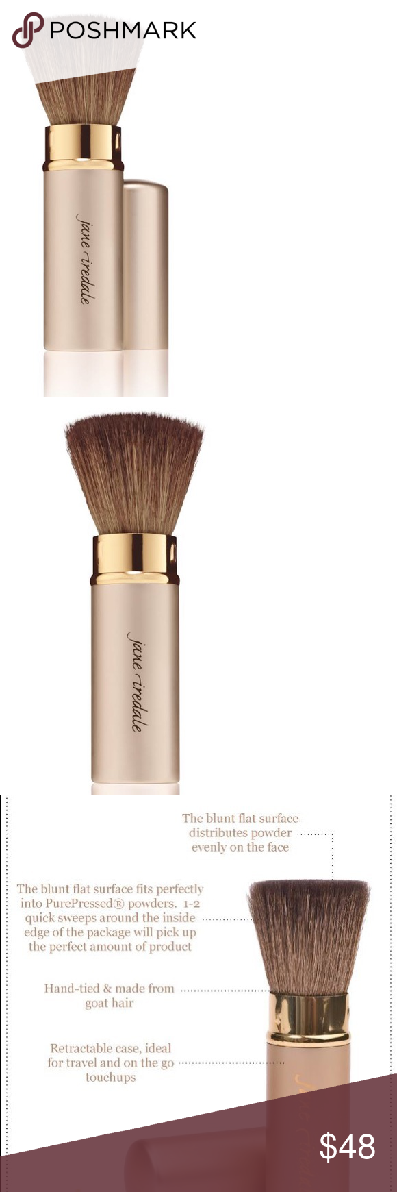 HP💕Retractable Handi Makeup Brush Jane Iredale Boutique