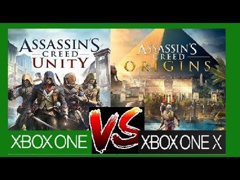 Assassins Creed Origins Vs Unity Xbox One X Vs Xbox One Graphics