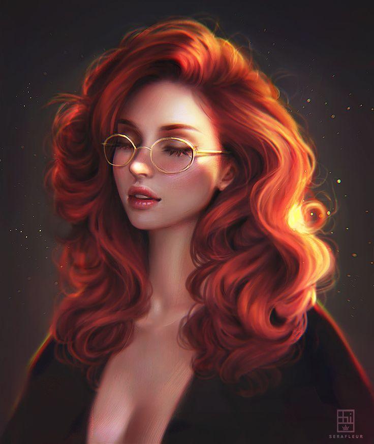 Hd Girly Wallpaper Cute Wallpaper Girl Short Hair Curly Hair Glasses Girl In 2020 Girly Art Illustration Art Girl Girls Cartoon Art