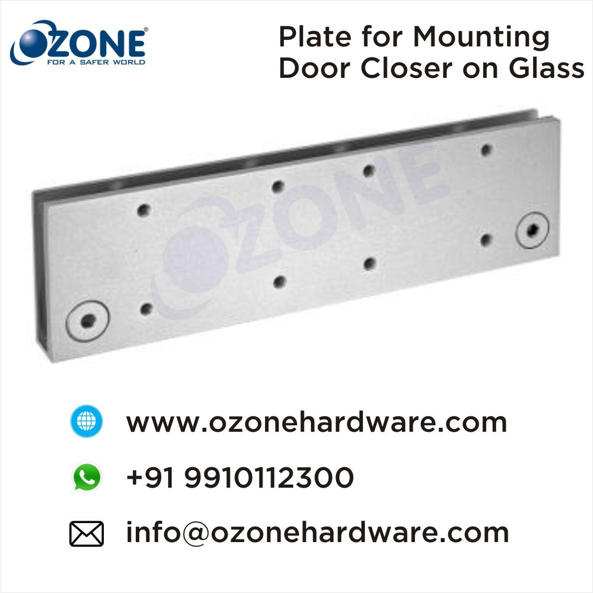Plate For Mounting Door Closer On Glass Suppliers Traders Of Door Closer Accessories The Modern Door Technology Door Co Closer Doors Modern Door