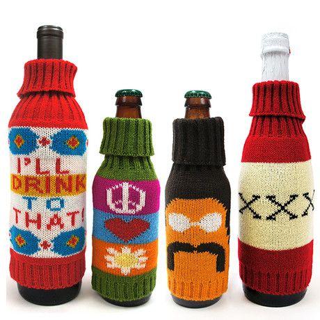 Groovy bottle sweaters