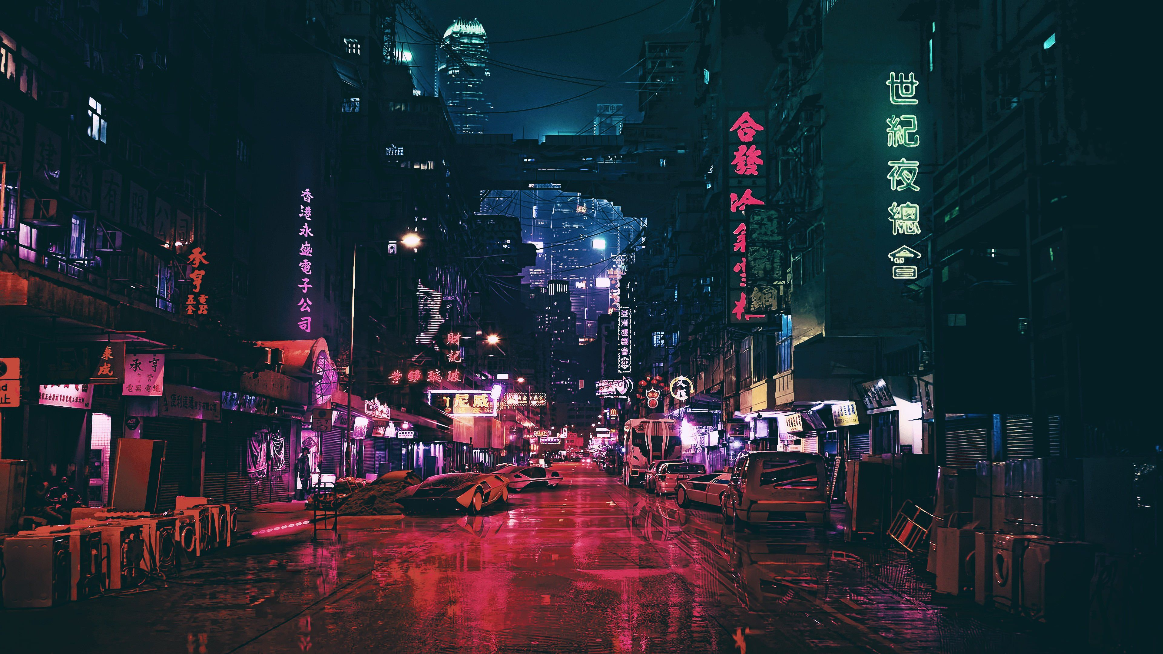 Cyber Punk 4k Wallpaper City Wallpaper Futuristic City Cyberpunk City