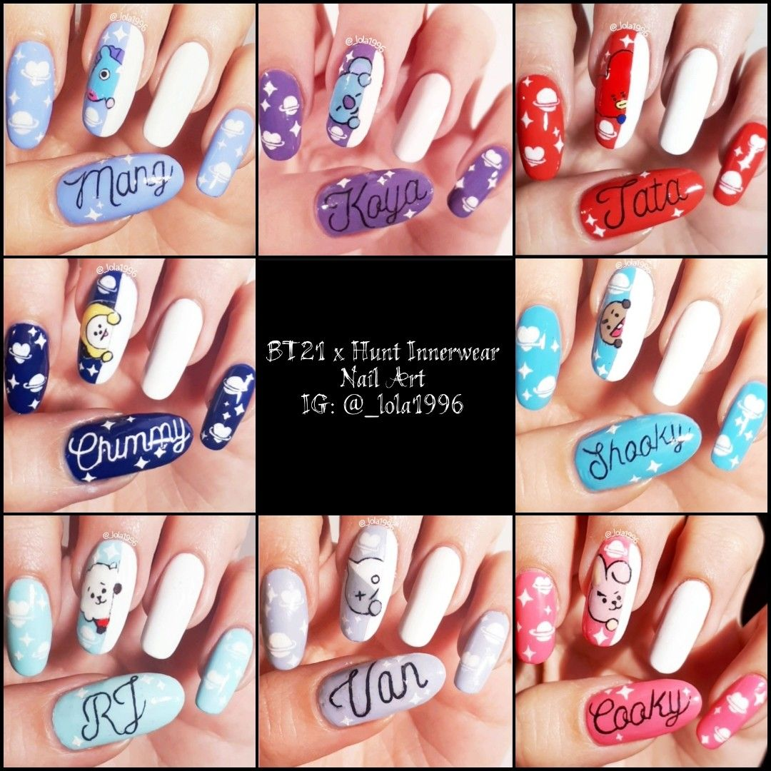 Bts Nail Art Join The Army