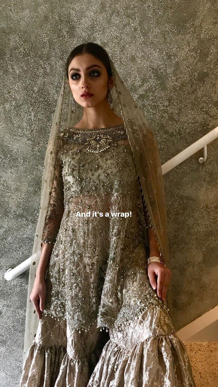 59410cface Zara shahjahan - love the gharara | Pakistani valima brides in 2019 ...