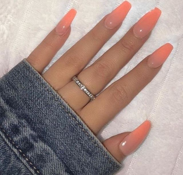 Coral ombre nails image by Tina Nichols on Nails   Ombre