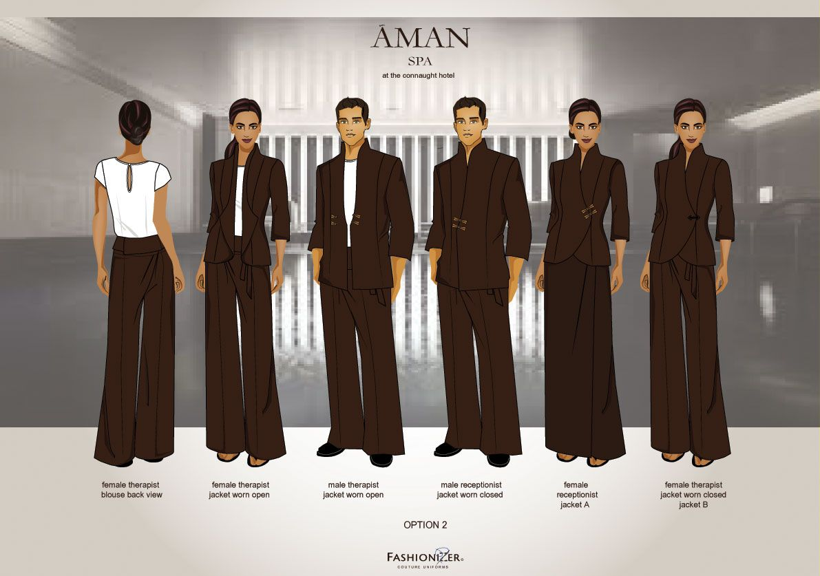 Resort hotel uniforms found on fashion for Hotel uniform spa