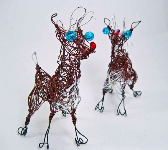 wire christmas deer