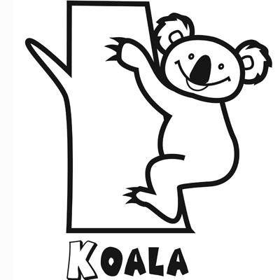 Dibujo Para Imprimir Y Pintar De Un Koala Dibujos Para Imprimir