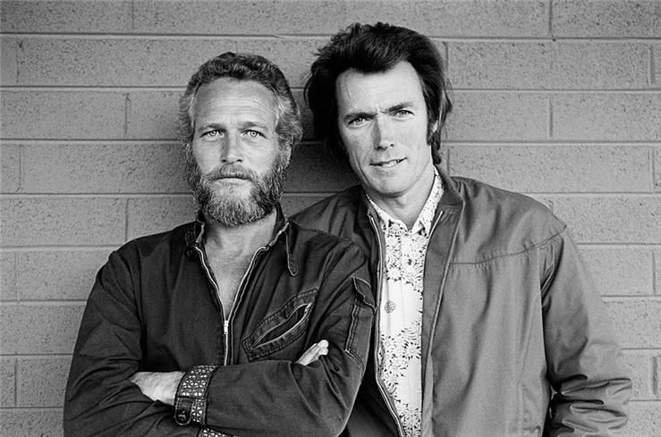 Terry O'Neill - Paul Newman & Clint Eastwood | From a unique collection of black and white photography at http://www.1stdibs.com/art/photography/black-white-photography/