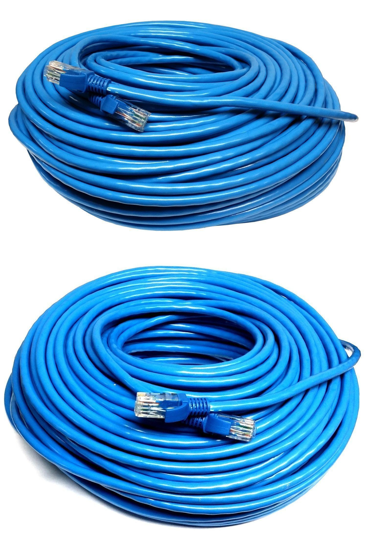 100ft 100 Ft Rj45 Cat6 Cat 6 High Speed Ethernet Lan Network Blue Patch Cable Networking Cables Rj45 Cable