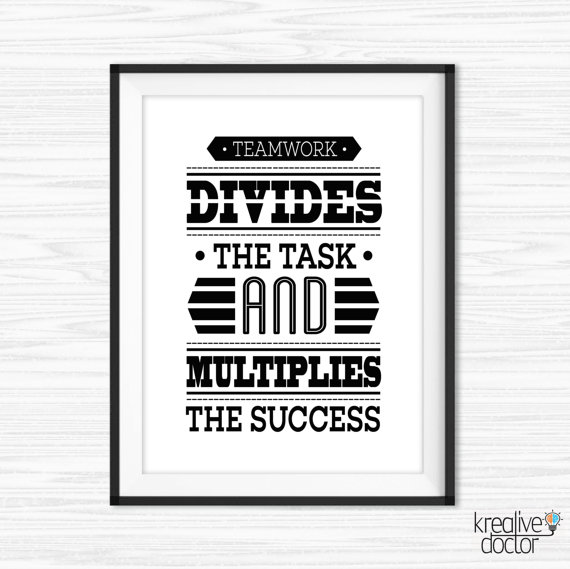 Teamwork Quotes For The Office Office Wall Art Teamwork Quotes Printable Success Quotes  Teamwork Quotes For The Office