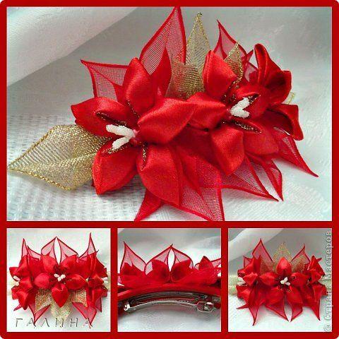 Kanzashi Hobby Grula Grula09 Chomikuj Pl Strona 4 Hair Accessories Tutorial Diy Hair Accessories Fabric Flowers