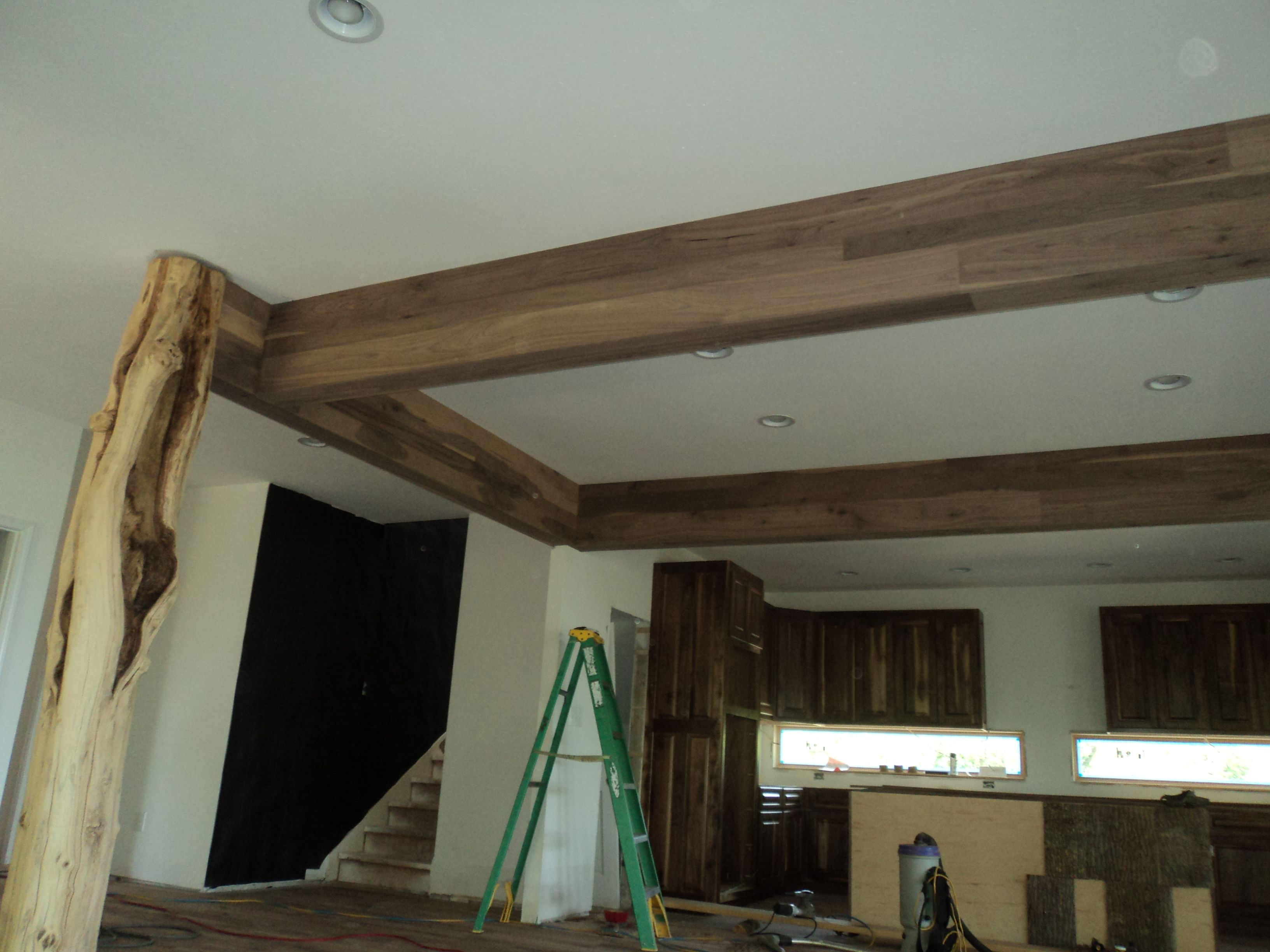 Black Walnut Beam Wrap Wood Beam Ceiling Faux Ceiling Beams