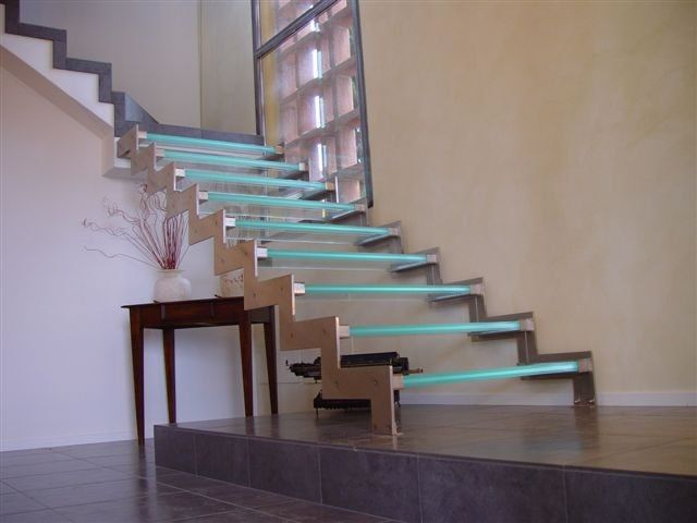 Best Bespoke Glass Led Staircase Interior Stairs Glass 400 x 300