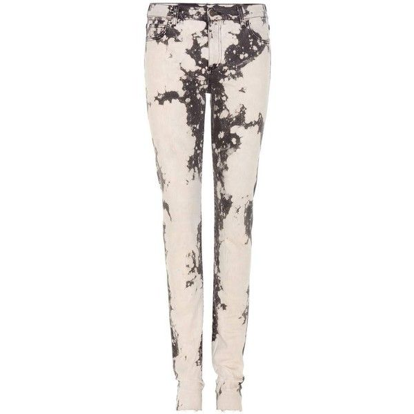 bleached embroidered skinny jeans Gucci CNl4Pl