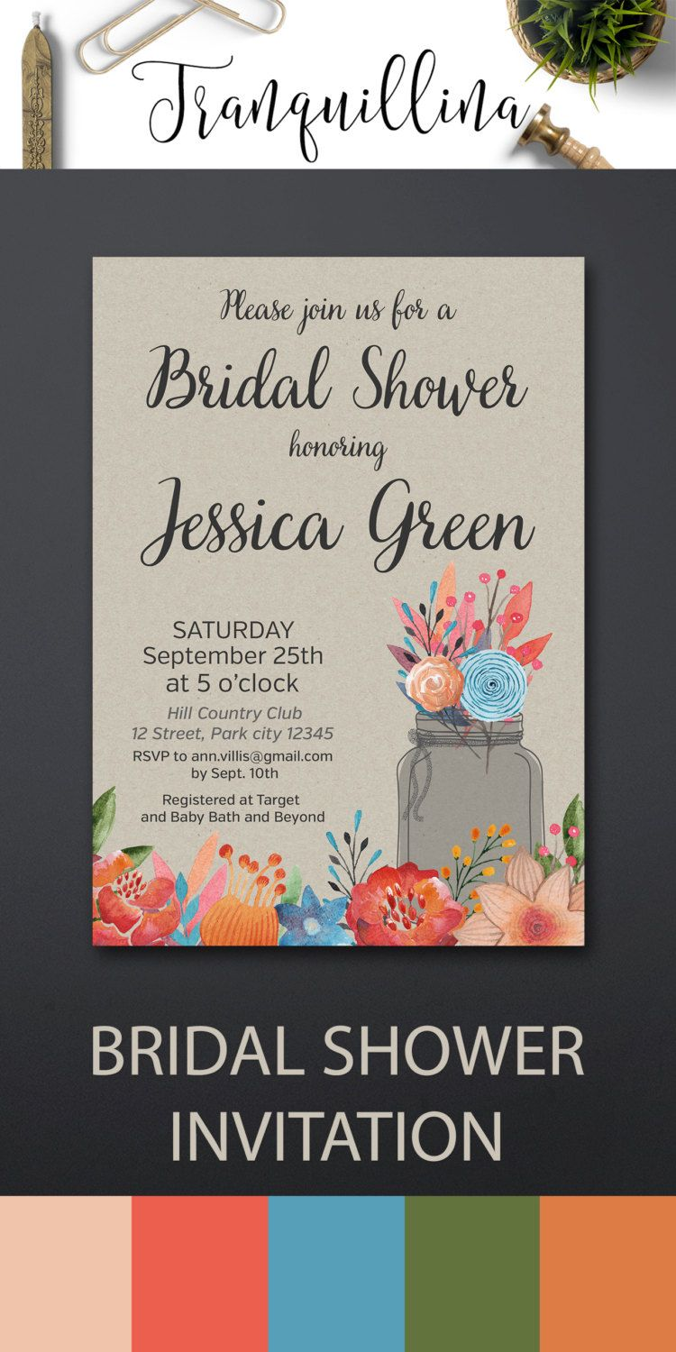 Bridal Shower Invitations Rustic