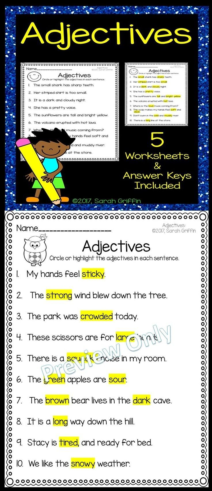 small resolution of Adjectives Practice Worksheets   Adjective worksheet