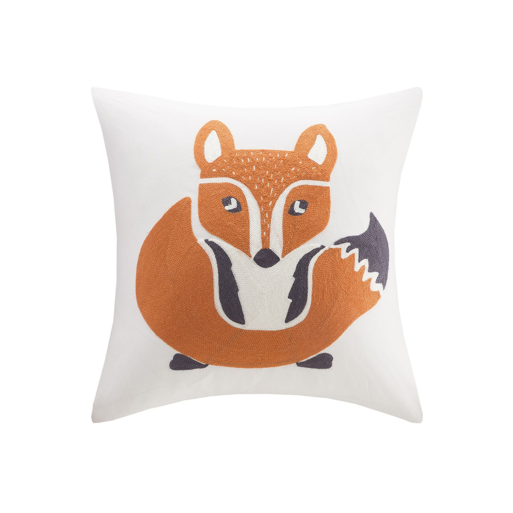 INK IVY Kids Ink ivy Kids Foxy Embroidered Square Throw Pillow ...