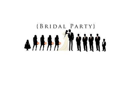 Wedding Party Silhouette Clip Art Program 400x400 1366228718652 Bridal