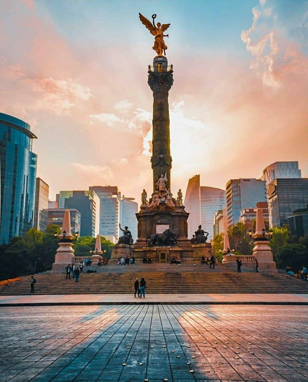 Angel de la Independencia Mexico. | Paisajes naturales de mexico, Paisaje  mexico, Lugares hermosos de mexico