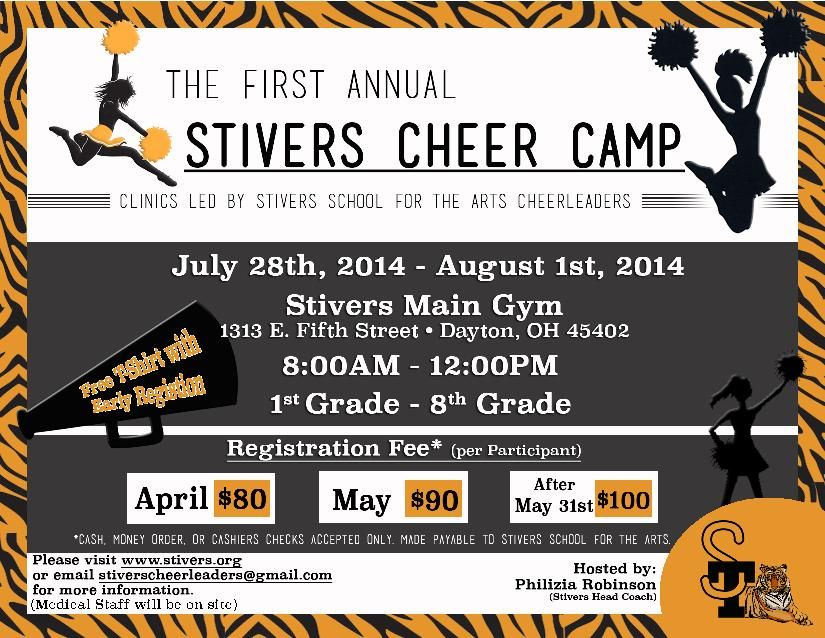 Cheer Camp Flyer | Sign up for our Email Newsletter