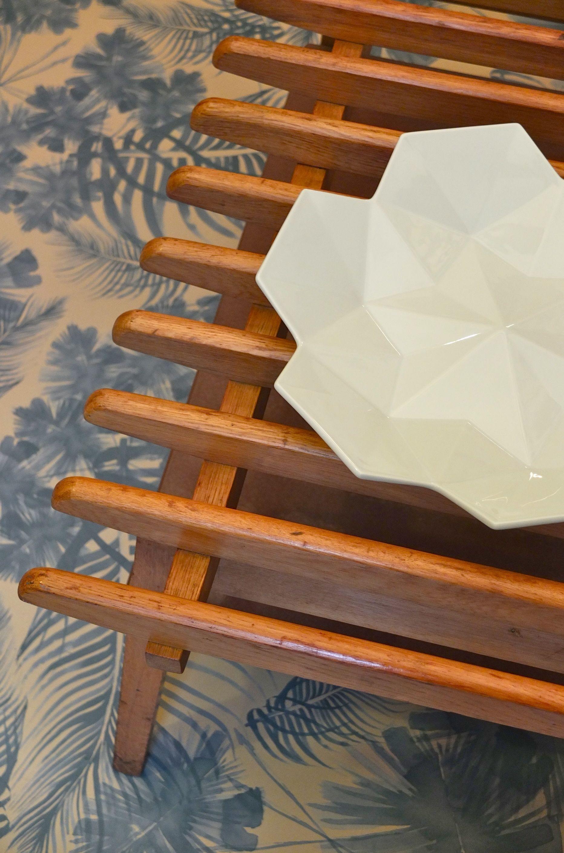 "Table basse de style scandinave en bois ""Natural"" Slavia vintage"
