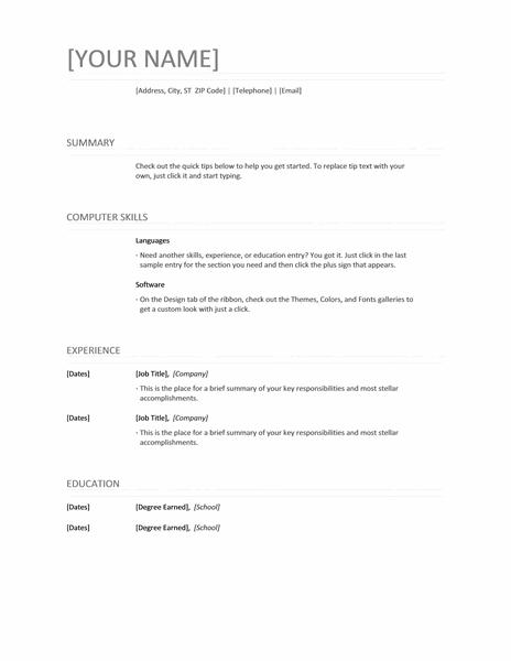 Resume Templates Office 365 Resume Templates Resume Template Word Resume Templates Cv Template