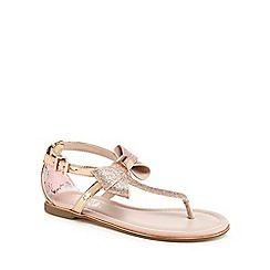 7fe083157db6 Baker by Ted Baker -  Girls  gold glitter sandals