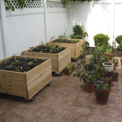 Planter Is On Wheels Garden Vegetable Planter Boxes Planter