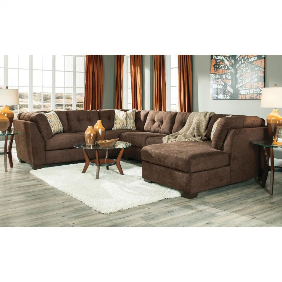 benchcraft delta city stationary chaise sectional with queen sofa