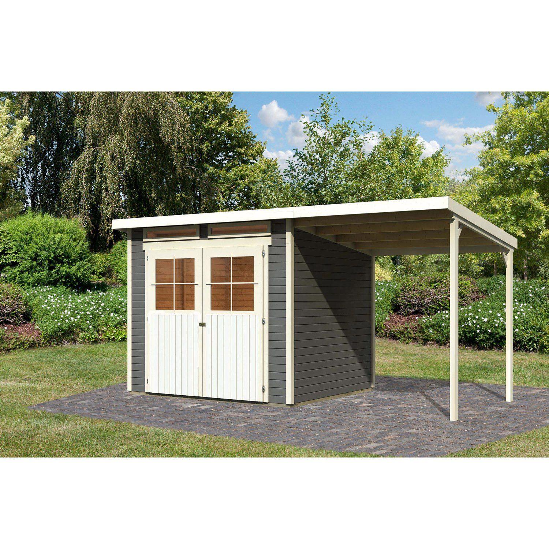 Woodfeeling Holz Gartenhaus Genf 4 Terragrau Bxt 426 X 213 Cm Davon 188 Cm Anbau Kaufen Bei Obi Gartenhaus Gartenhaus Selber Bauen Haus
