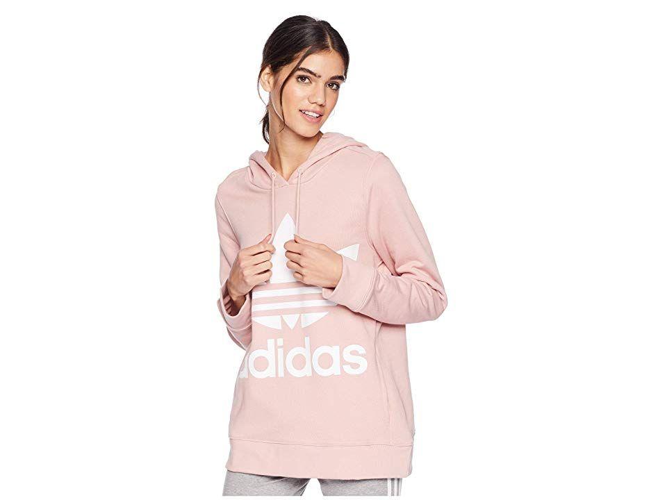 adidas Originals Trefoil Hoodie (Pink Spirit) Women's Long