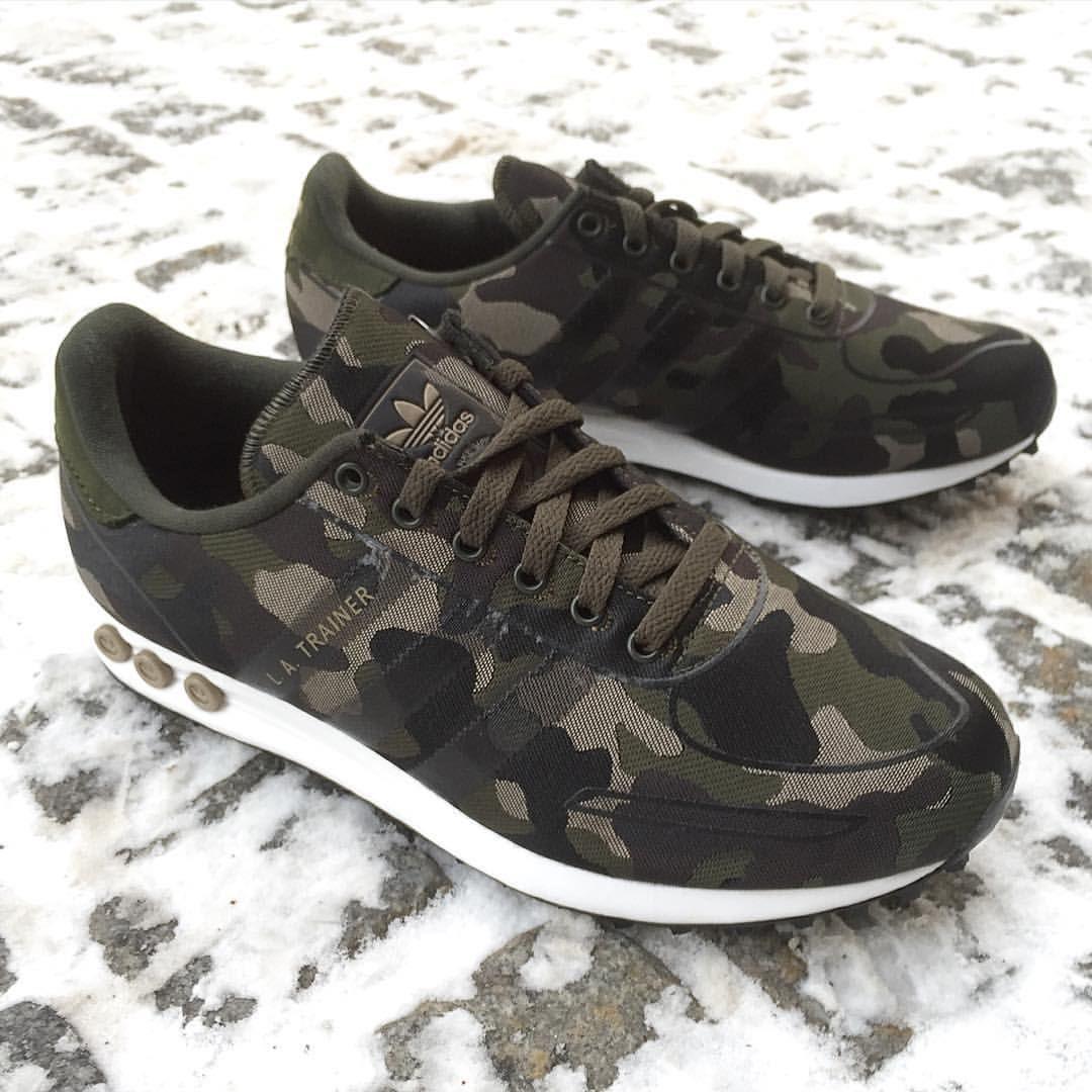 newest 1686e 8fd0c adidas Originals LA Trainer Weave  Camo
